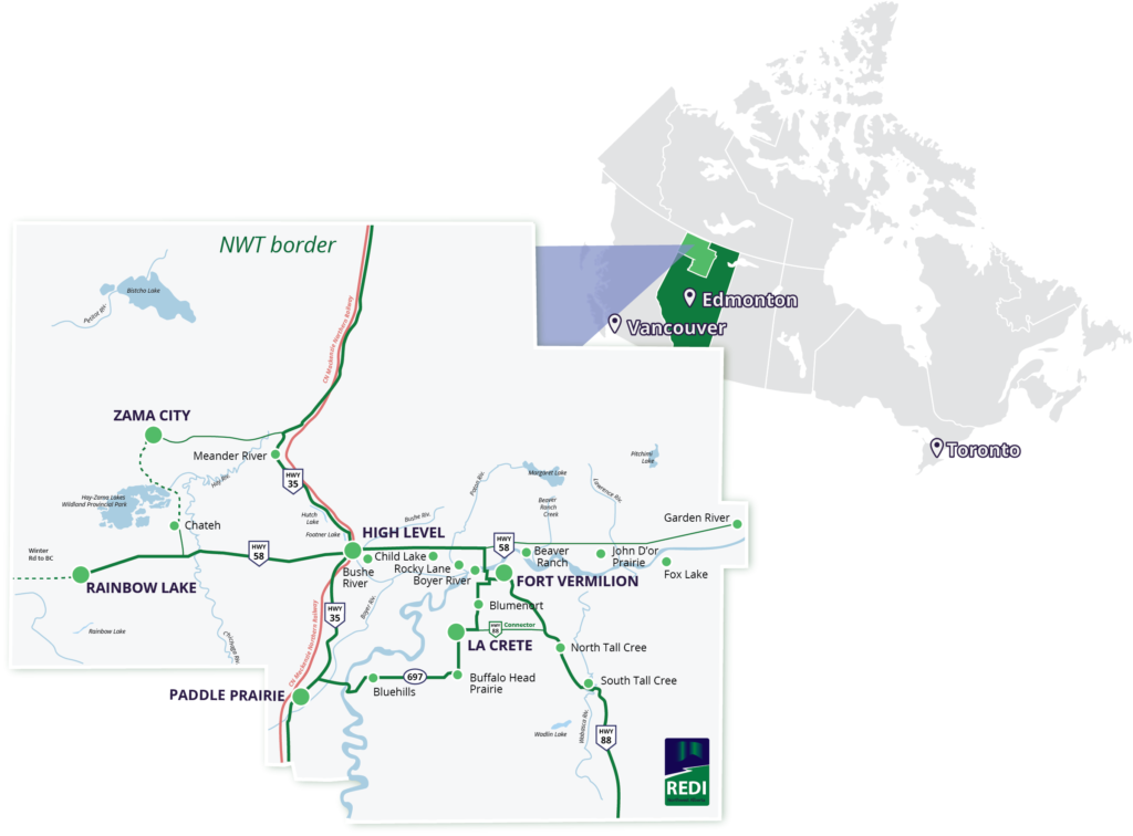 Canada_detailed region map