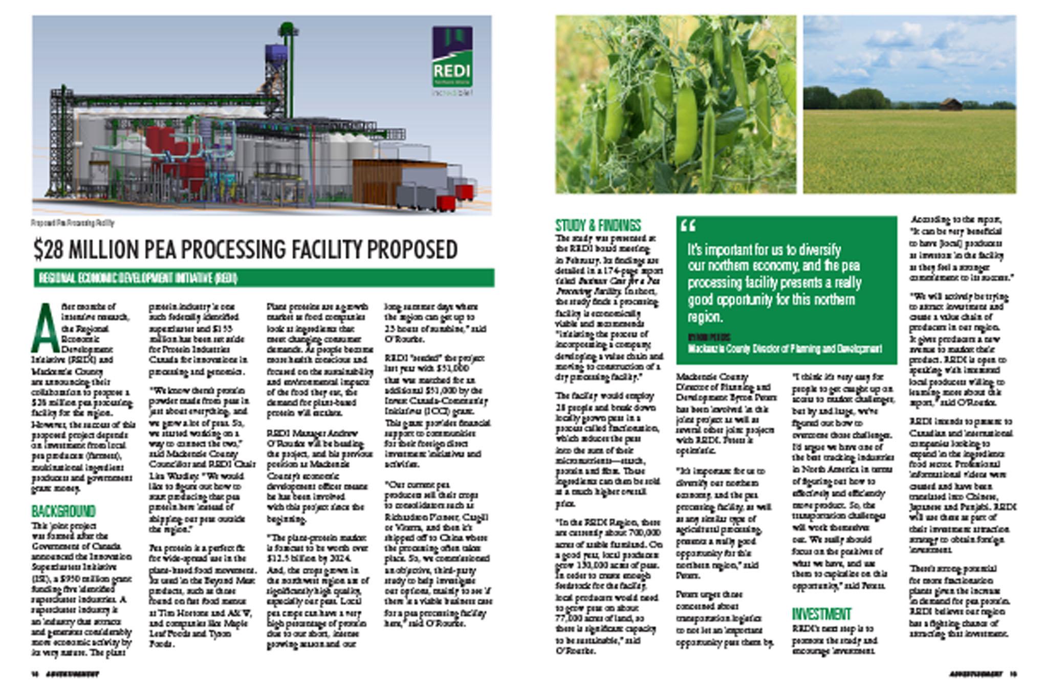 May 2020 - Pea Processing Facility