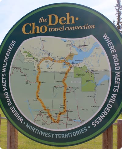 Deh Cho Travel Connection Map Sign